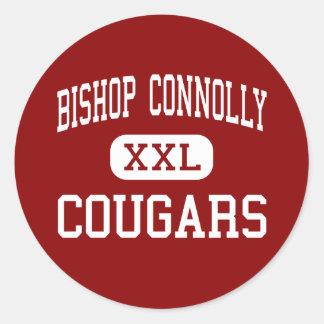 Bischof Connolly - Pumas - hoch - Fall-River Runder Aufkleber