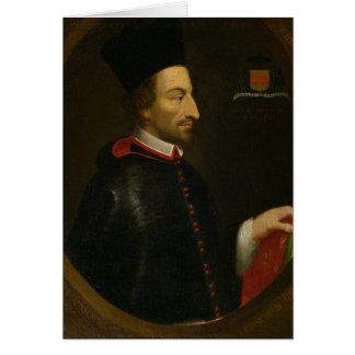 Bischof Cornelius Jansen von Ypres Grußkarte