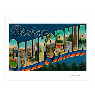 Bischof, Kalifornien - große Buchstabe-Szenen Postkarten
