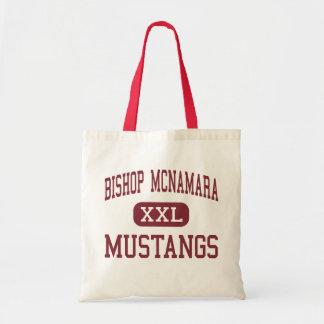Bischof McNamara - Mustangs - hoch - Forestville Budget Stoffbeutel