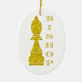 Bischof Ovales Keramik Ornament
