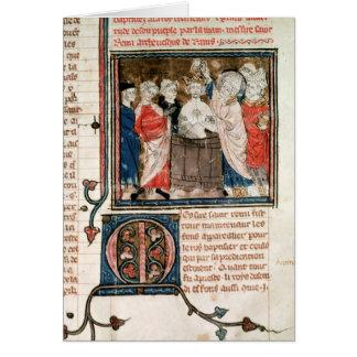 Bischof St. Remigius von Reims Grußkarte