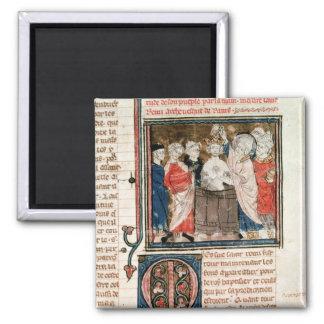Bischof St. Remigius von Reims Quadratischer Magnet
