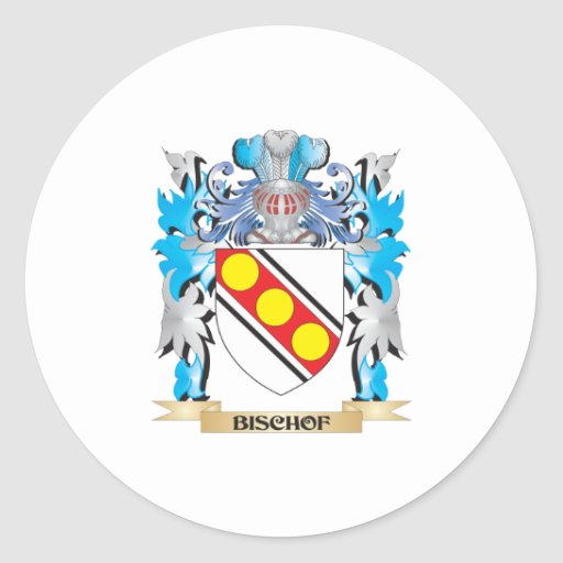 Bischof Wappen Runder Aufkleber