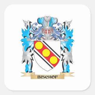 Bischof Wappen Quadrataufkleber