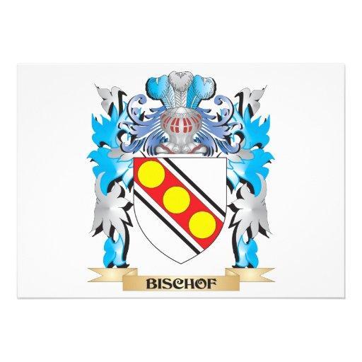 Bischof Wappen Individuelle Einladungskarten