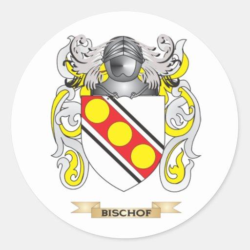 Bischof Wappen (Familienwappen) Runder Aufkleber