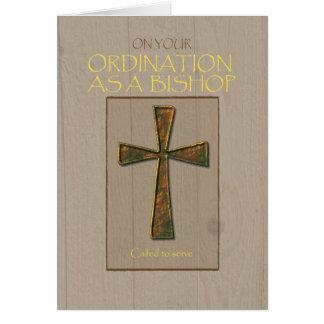 Bischofs-Klassifikations-Glückwünsche, Metallkreuz Grußkarte