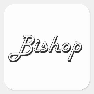 Bischofs-klassischer Job-Entwurf Quadrat-Aufkleber