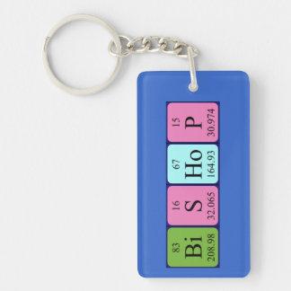 Bischofs-Periodensystem-Namenschlüsselring Schlüsselanhänger