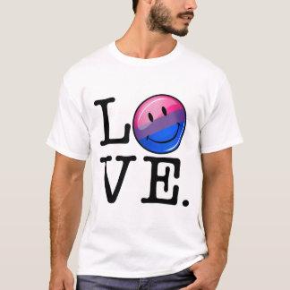 Bisexuality-Flagge innerhalb der Wort-Liebe T-Shirt
