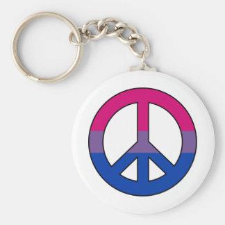 Bisexualityflaggen-Friedenszeichen Keychain Schlüsselanhänger
