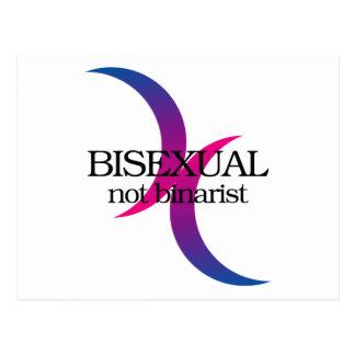 Bisexuell, nicht binarist postkarte