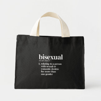 bisexuelle Definition - definierte lgbtq Ausdrücke Mini Stoffbeutel