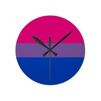 Bisexuelle Flagge Runde Wanduhr