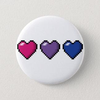 Bisexuelle Pixel-Herzen Runder Button 5,1 Cm