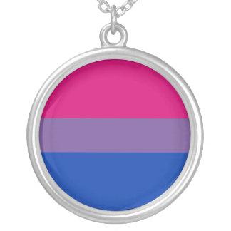 Bisexuelle Stolz-Flagge Halskette Mit Rundem Anhänger