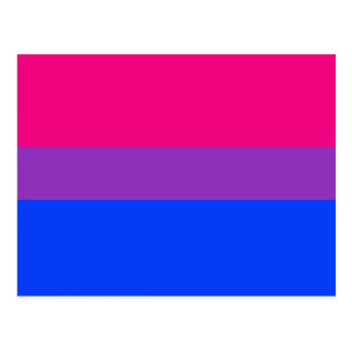 Bisexuelle Stolz-Flagge Postkarte
