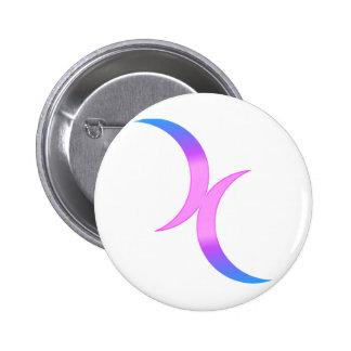 Bisexueller Mond Runder Button 5,1 Cm