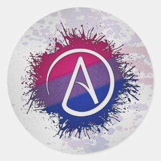 Bisexueller Stolz-Atheist Runder Aufkleber