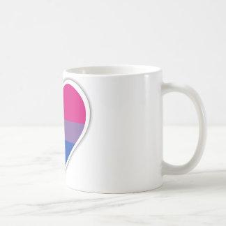 Bisexuelles Flaggenherz Kaffeetasse