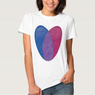 Bisexuelles Herz Shirt