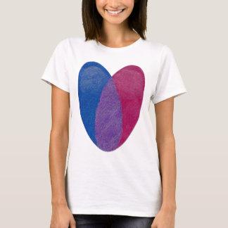 Bisexuelles Herz T-Shirt