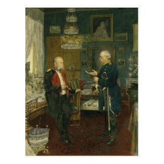 Bismarck mit Kaiser Wilhelm I Postkarte
