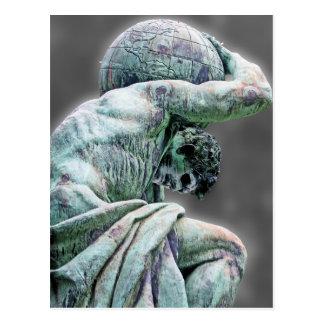 Bismarck-Statue, Berlin, griechischer Gott-Atlas, Postkarte