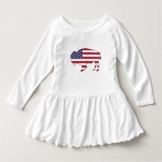 Bison - amerikanische Flagge Kleid