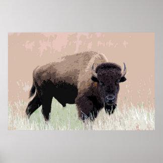Bison-Büffel-Amerikaner-Grafik Poster