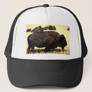 Bison-Büffel-Fernlastfahrer-Hut Truckerkappe