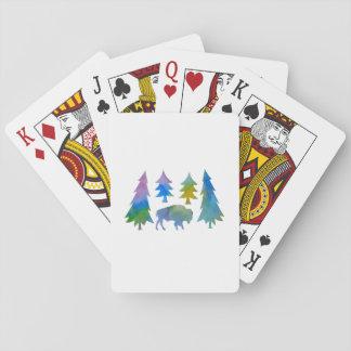 Bison/Büffel Spielkarten