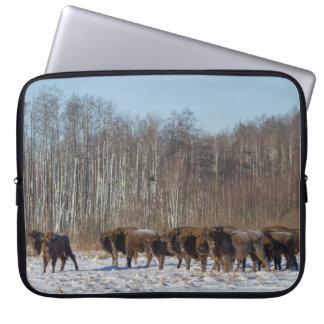 Bison-Herde Laptop Sleeve