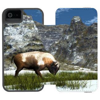 Bison im Berg Incipio Watson™ iPhone 5 Geldbörsen Hülle