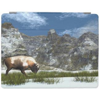 Bison im Berg iPad Hülle