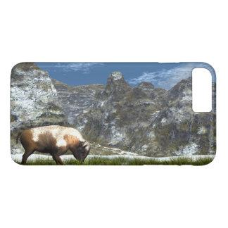 Bison im Berg iPhone 8 Plus/7 Plus Hülle