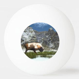 Bison im Berg Ping-Pong Ball