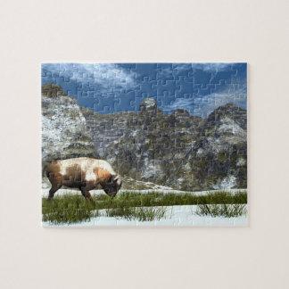 Bison im Berg Puzzle