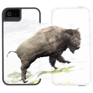 Bison im Wintersturm Incipio Watson™ iPhone 5 Geldbörsen Hülle