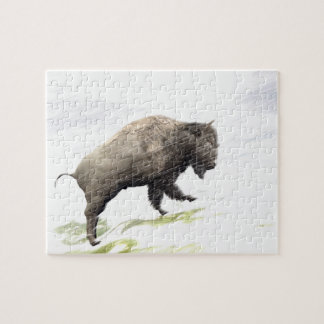 Bison im Wintersturm Puzzle