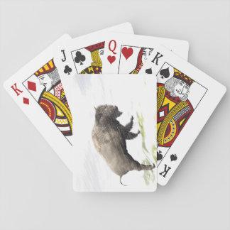 Bison im Wintersturm Spielkarten