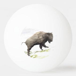 Bison im Wintersturm Tischtennis Ball