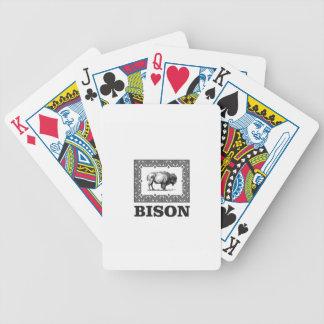 Bison in einem Rahmen Bicycle Spielkarten