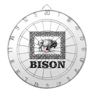 Bison in einem Rahmen Dartscheibe