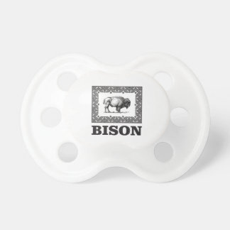 Bison in einem Rahmen Schnuller