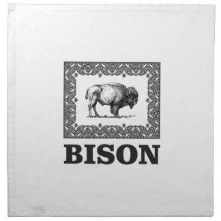 Bison in einem Rahmen Stoffserviette