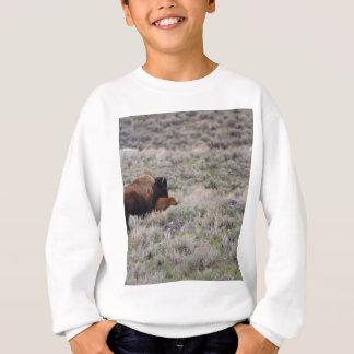 Bison und Kalb Sweatshirt