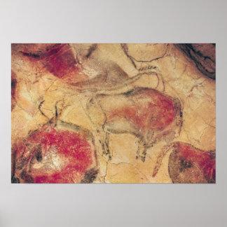 Bisone, von den Höhlen bei Altamira, c.15000 BC Poster