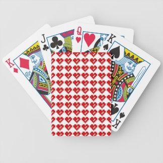 Bit-Liebe des Pixel-Herz-8 Bicycle Spielkarten